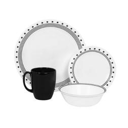 Corelle Livingware 16-Piece City Block Design Dinnerware, wi