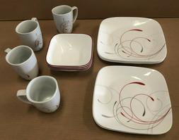 Corelle Square 16-Piece Dinnerware Set, Splendor, Service fo