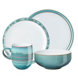 Denby 16-Piece Azure Coast Dinner Set, Set of 4