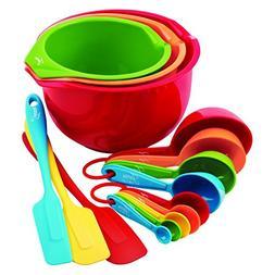 Fiesta 15-Piece Prep and Serve Baking Set, 4 Measuring Spoon