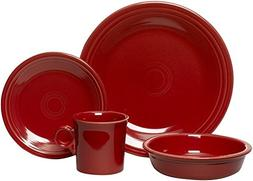 Fiesta 16-Piece, Service for 4 Dinnerware Set, Scarlet