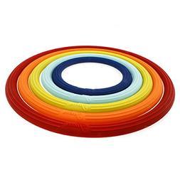 Fiesta 5 Piece Trivet Set, Multicolor
