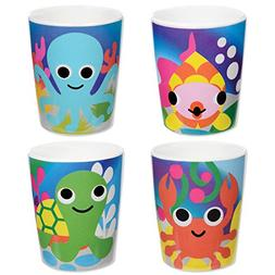 French Bull Kids Juice Cup Set of 4 - BPA-Free, Transition,