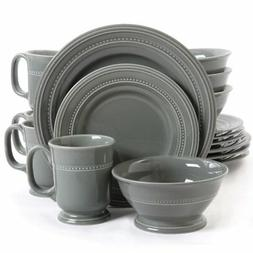 Gibson Elite 102124.16RM Barberware 16 Piece Dinnerware Set,
