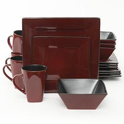 Gibson Elite 108212.16RM Kiesling 16 Piece Dinnerware Set, R