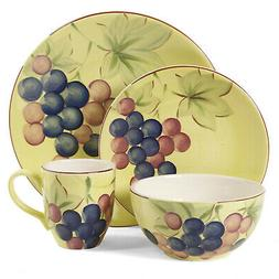 Gibson Home 97976.16r Fruitful Harvest Grapes 16-Piece Dinne