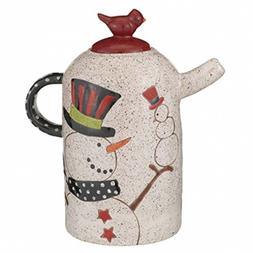 Grasslands Road - Christmas - Pottery Snowman Teapot - 47134