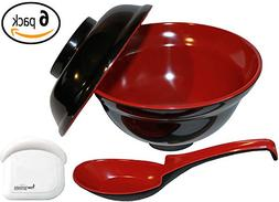 Japanese Rice / Soup Bowl Set with Lid, Spoon with Pan Scrap