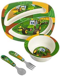 John Deere's Johnny Tractor and Friends Feeding 4 Piece Set,