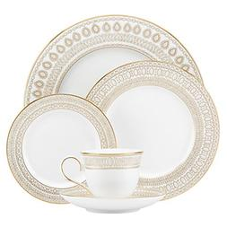 Lenox Marchesa Gilded Pearl 5 Piece Place Setting, White