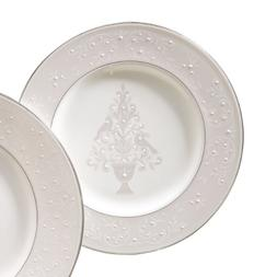 Lenox Opal Innocence Tree Accent Plate,White,Accent Plate, T
