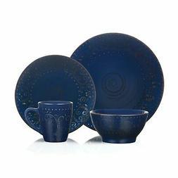 Lorren Home Trends 16 Piece Distressed Romance Stoneware Din