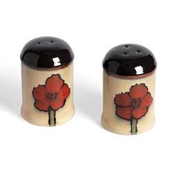 Pfaltzgraff Painted Poppies Salt and Pepper Shaker Set