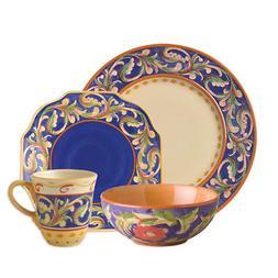 Pfaltzgraff Villa Della Luna Blue 32 Piece Dinnerware Set, S