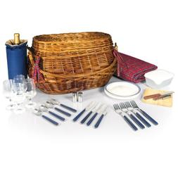 Picnic Time Highlander Bombay Picnic Basket with Deluxe Serv