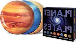 Planet Plates Set - Eight 10 Inch Melamine Astronomy Dinner