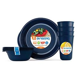 Preserve Everyday Tableware Set: Four Plates, Four Bowls and