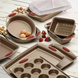Rachael Ray Cucina Latte Brown Nonstick 10-Piece Bakeware Se
