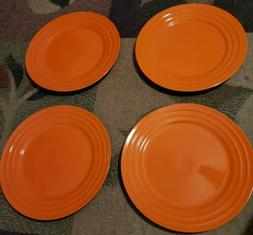 Rachael Ray  Orange Double Ridge Dinner Plate 11''