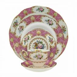 Royal Albert 15135002 Lady Carlyle 5-Piece Place Setting, Se