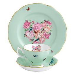 Royal Albert 40001837 Blessings 3-Piece Teacup, Saucer and P
