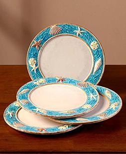 Set of 4 Coastal Cottage Salad Plates
