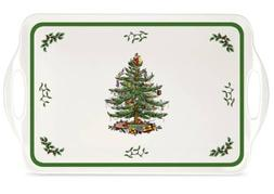 "Spode Christmas Tree Sandwich Tray -15.0"" x 6.5"""