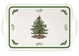 "Spode Christmas Tree Sandwich Tray -15.0"" x 6.5"""