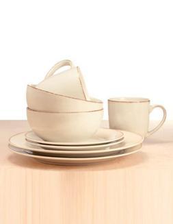 Thomson Pottery Sonoma White 16 Piece Dinnerware Set