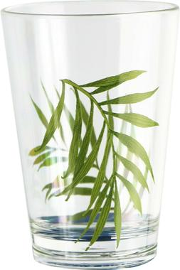Corelle Coordinates Acrylic 8 ounce Glass Bamboo. Set of 6.