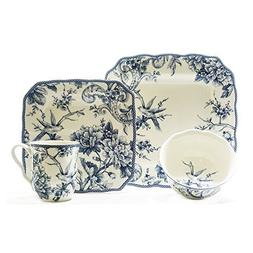 Adelaide 16 Piece Dinnerware Set in Blue by 222 Fifth