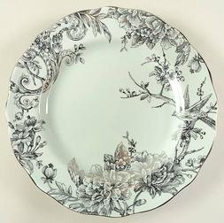 222 Fifth Adelaide Light Green and Silver Dinner Plate Set o