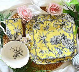222 Fifth Adelaide Square Yellow 16-Piece Dinnerware Set 100