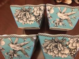 222 Fifth Adelaide Turquoise Square Bowl Set Of 4