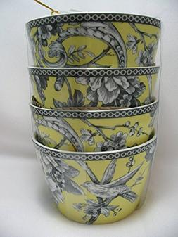 222 Fifth Adelaide Yellow Round Dessert Appetizer Bowls Set