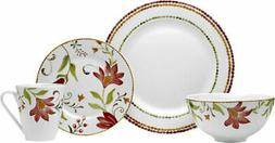 Oneida Adriatic 16pc Dinnerware Set, Red