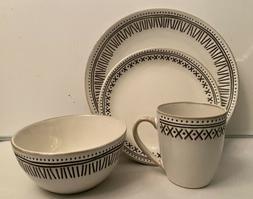 Threshold Akindra 16 Piece Round Stoneware Dinnerware Set in