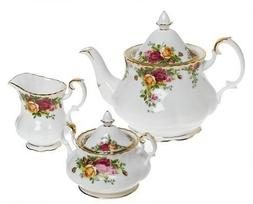 Royal Albert Old Country Roses 3-Piece Tea Set by Royal Doul