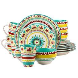 Euro Ceramica Alecante Collection Fall-Inspired 16 Piece Cer