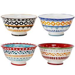 "Euro Ceramica Amalfi Collection 6"" Porcelain Cereal/Soup Bow"