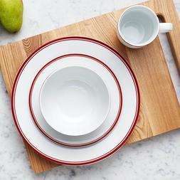 AmazonBasics 16-Piece Red Dinnerware Set, Service for 4 Plat