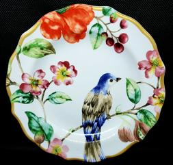 """""""AMBRI"""" BY 222 Fifth set of 4 Appetizer Plates w/Floral, But"""