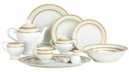 Lorren Home Trends Amelia 57 Piece Dinnerware Set, Service f