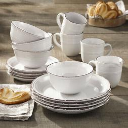 Annabelle 16 Pieces Dinnerware Set, Service For 4