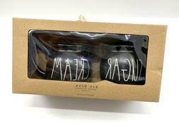 Rae Dunn Artisan Collection By Magenta Black SUGAR CREAM Bow