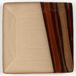 Sango Avanti Brown Square Dinner Plate