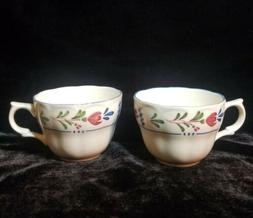 Nikko Avondale Dinnerware Set of 2 Coffee Cups preowned exce