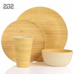 Bamboo Dinnerware Set - Morgiana 4 Piece Bamboo - Eco Friend