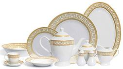 Royalty Porcelain 57-pc Banquet Dinnerware Set for 8, Bone C