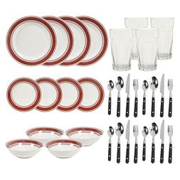basic living brick dinnerware combo